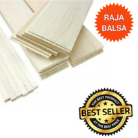 Balsa 1mm x 10cm x 1mtr kayu balsa sheet kwalitas expor