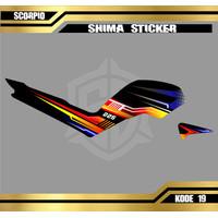 (COD) Striping Stiker Motor Variasi Yamaha Scorpio Z Kode 19 - 23