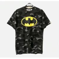 BAPE X DC Batman Color Camo T-Shirt Black 100% Original