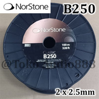 Kabel Speaker Norstone Black B250 2x2.5mm2 14 AWG France Cable per M