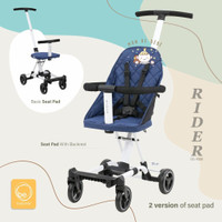 BabyElle Rider BS 1688 Convertible Stroller Board Cabin Size - Dark Grey