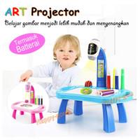 Mainan Edukasi Montessori Meja Gambar Anak Belajar Projector Proyektor