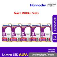 Hannochs Lampu LED Alfa 9 watt CDL 5 pcs - Putih