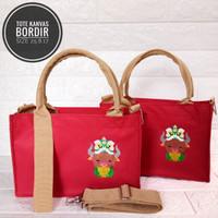 goodie bag tas kanvas bordir / souvenir ulang tahun