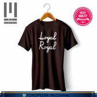 Kaos Baju LOYAL ROYAL BTS KIM TAEHYUNG bahan adem 100% katun - S