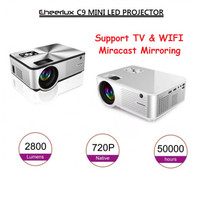 Cheerlux C9 Mini LED 2800 Lumens Projector Proyektor TV Tuner + WIFI