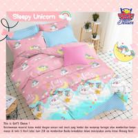 Set Bedcover katun lokal PREMIUM motif unicorn ukuran 180x200 160x200