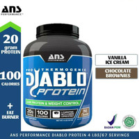 ANS Diablo Protein 4 lbs lb 4lbs 4lb Whey Protein Fat Burner Ripped