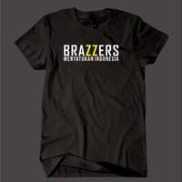 Kaos Baju Combed 30S Distro BRAZZERS MENYATUKAN polos custom indonesia