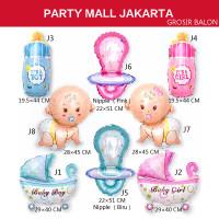 Balon foil karakter mini baby shower party