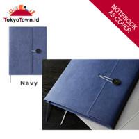 KING JIM +KRAFT Notebook Cover # Kokuyo, Midori, Leuchtturm - Navy, Size A5