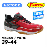 Sepatu Badminton Hector merk Fans Tapak dijahit