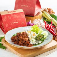 Nasi Daun Jeruk Ayam Goreng Lengkuas Kemasan Box