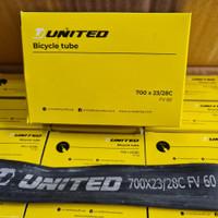 Ban Dalam United 700x23/28c Presta 60mm