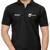 Kaos Polo Sh Baju Kerah Distro ANTERAJA iNiSiAL ANTER AJA polos custom