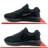 sepatu nike pria sepatu sport pria sepatu sekolah sepatu kerja pria - Hitam polos, 40