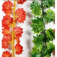 Daun Rambat Daun Mapel Daun Imitasi Artificial Maple Hijau Orange