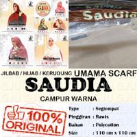Umama SAUDIA RAWIS Campur Warna jilbab hijab segiempat polos