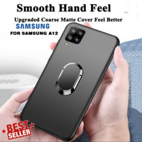 Casing Samsung Galaxy A12 A 12 Ring Soft Case Magnetic Macaron Cover