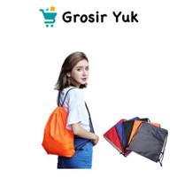Grosir - Tas Serut Ransel Polos String Bag Multifungsi