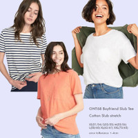 OLDNAVY 38 Boyfriend Slub Tee Baju Atasan Kaos Wanita Branded