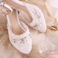 Sepatu Ankle Strap Adeline Putih