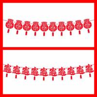 Chinese new year banner hiasan gantung imlek