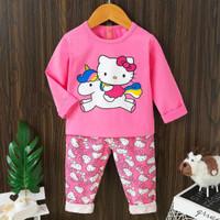 Piyama / Baju tidur anak cewek import Hello kitty umur 1 - 10 tahun.