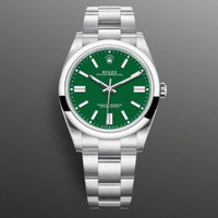 Jam Rolex Oyster Perpetual Sapphire Automatic Red Green 40mm