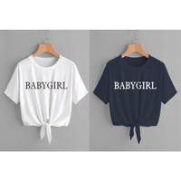 crop blouse kaos tali ikat baju atasan wanita bluss casual anak remaja