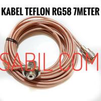 KABEL TEFLON RG58 7 METER KABEL ANTENA RADIO RIG RG58 TEPLON 7M MURAH
