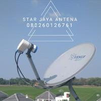 Antena parabola mini tanpa iuran bulanan selamanya+pasang+garansi 2 th