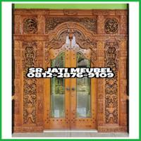 pintu rumah kayu jati pintu gebyok pintu kukpu-kupu kayu jati