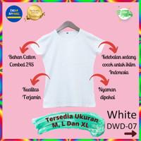 Kaos Polos Baju Atasan Dewasa Wanita Lengan Pendek warna Putih - DWD08