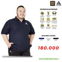 Baju Kaos Kerah Jumbo Tiento Polo Shirt Pria Big Baju Polo Pria Jumbo - Navy, XL
