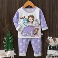 +/- 4-10 th PIYAMA baju tidur PJG anak perempuan motif Princess Sofia - 85