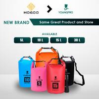 HOGOO 2 STRAPS WATERPROOF DRY BAG 15 LITER TAS RANSEL ANTI AIR OUTDOOR
