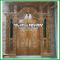 pintu rumah kayu jati pintu gebyok jati