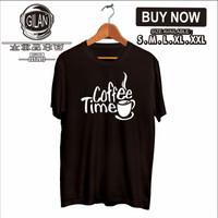 Kaos Baju Distro COFFEE TIME Kaos Barista kopi - Gilan - S