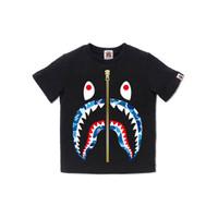 Bape Kids ABC Camo Shark tee - Black/Blue - 120