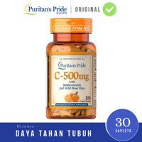 Puritan Vitamin C 500 mg 100 Caplets Bioflavonoid Puritans Pride 500mg