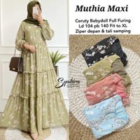 gamis muslim terbaru muthia dress maxy wanita terbaru bahan ceruti