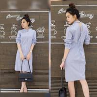 Dress motif salur asli baju dress wanit terbaru 2021 dress kekinian