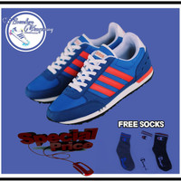 Sepatu Pria Adidas Neo City Racer Blue List Red White Original