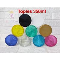 Toples Plastik PET 350ml min beli 6pc/Tutup Ulir/Jar/Kue/Manisan/Snack