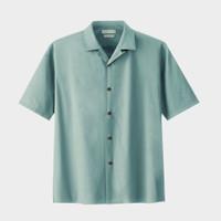 Common Blanc Short Bowling Man Shirt - Sea Green - S