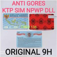 Anti gores KTP SIM NPWP dll Original Nano Glass 9H Premium Quality