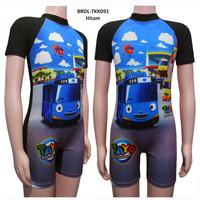 Baju Renang Anak Diving Pendek Usia 4-9 Th Karakter Tayo BRDL-TKK091