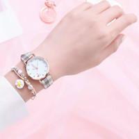 Jam Tangan Wanita Quartz Analog Motif Lucu Korean Fashion Dengan Tali - Putih