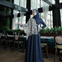 gamis modis wanita dres kondangan baju pesta kanesa brukat termurah